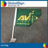 I lati di promozione due stampati personalizzano la pubblicità della bandierina della finestra di automobile della bandiera della mosca del poliestere