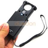 30X/60x Lupa de la Joyería de lente doble Lupa Portátil con LED luces UV