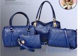 Insiemi di cuoio della borsa di PCS del progettista 4 della signora PU della fabbrica di Guangzhou