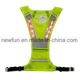 Het gele Noctilucent Vest van de Veiligheid van het Netwerk Speciale Weerspiegelende