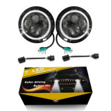 Fascio massimo minimo ambrato dell'occhio DRL 40W 20W di angelo della fabbrica i fari rotondi da 7 pollici LED per l'indicatore luminoso di azionamento della jeep