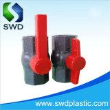 Las válvulas de bola PVC octogonal gris