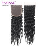 Yvonne-Haar-Großverkauf-Haar-Schweizer Spitze-Schliessen-verworrenes lockiges brasilianisches Haar-Spitze-Schliessen
