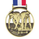 カスタマイズされたニッケルの金の銀の銅のスポーツの金属メダル