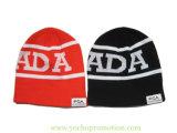 100%のアクリルのジャカード冬の帽子は帽子によって編まれた帽子を編んだ