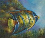 ホーム装飾のためのハンドメイドの魚のキャンバスの絵画