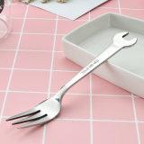 米国の農夫のシャベルの形の食事用器具類はスプーンおよびフォークの含をセットした