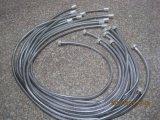 En acier inoxydable chromé souple du tuyau de douche, EPDM, l'écrou en laiton, 1,5 m de longueur, de certificat d'ACS