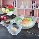 Grande ciotola di insalata di vetro all'ingrosso