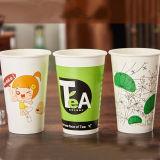 Grünes und heißes Tee-umweltsmäßiggetränk-Papiercup fördernd