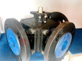CS 탄소 강철 Ce/ISO 정연한 플랜지 3 방법 공 벨브