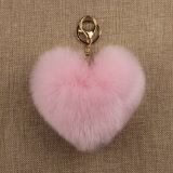 Sfera d'imitazione della pelliccia POM di Keychain del Faux della sfera poco costosa della pelliccia mini