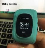 Protetor seguro crianças perdidas espertas do localizador do GPS do perseguidor do miúdo do relógio Q50 das anti