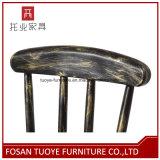 브라운 금속 막대기 의자 둥근 기초