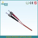 Coleta óptica de la cinta de fibra del St de Om1 Om2 con el cable de Corning