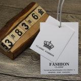Livro branco de alta qualidade simples Hang Tag para agasalho