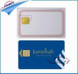 Cartão em branco branco do PVC do plástico com microplaqueta do contato