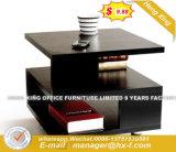 光沢の正方形の木製の旋回装置のコーヒーテーブル(Hx-CT0120)