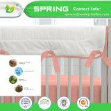 China-Lieferanten-Bett-Programmfehler-Vinylfreie weiße imprägniern Baby-Krippe-Matratzeencasement-Qualität 100%
