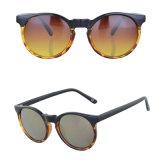 Os homens da moda Espelho Vintage óculos com lentes da estrutura de PC lâmpada UV400