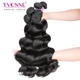 La extensión al por mayor del pelo de la Virgen del ser humano de los Peruvian el 100% de Yvonne suelta la onda
