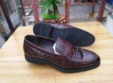 Итальянские ботинки платья черноты кожи Mens для офиса дела