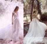 Spitze-Brautkleid-Sleeveless Strand-Garten-reisendes Hochzeits-Kleid H201725
