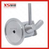 Válvula aséptica de la muestra de la tri abrazadera del depósito de fermentación del acero inoxidable 316L