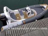 Barco de pesca inflável do barco da fibra de vidro do barco do reforço do luxo de Liya 6.2m