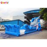 大人の膨脹可能な鮫水スライドのための巨大で膨脹可能な水スライド