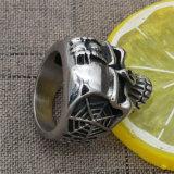 Красное кубическое кольцо черепа нержавеющей стали Zirconia