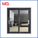 Exterior de aluminio puerta corrediza de vidrio de la ventana