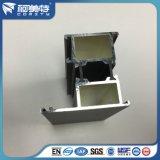 Perfil de aluminio de la capa 6063t5 del polvo de Brown para el marco interno y externo de la ventana