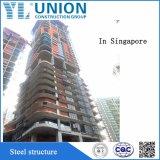 Estructura de acero de varias plantas edificio de Ingeniería