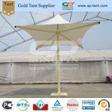 Белый ПВХ солнечным зонтом из расчета солнцезащитная шторка в открытом дворике зонтик для продажи