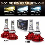 Prezzo poco costoso X3 H4 H7 lampadina automatica del faro dell'automobile LED di Zes di multi di colore di 360 gradi Phi di temperatura