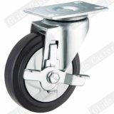 중간 의무 최고 브레이크 G3414를 가진 탄력 있는 고무 스레드 줄기 피마자 바퀴