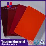 Alucoworld fornecedor ACP para painéis de plástico de alumínio ininterrupta de PVDF