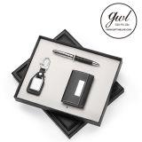 Het speciale Metaal Keychain van het Leer van de Gift met de Houder van het Adreskaartje van de Manier