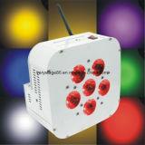 Lumière plate sans fil mince de PARITÉ de RGBW 6PCS 10W DEL