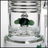 Verre borosilicaté Tall tube droit de fumer 18,8 mm Triple mixte de tourner le ventilateur PERC percolateur tabac pipe à eau