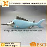 ホーム装飾のための創造的なホーム装飾の陶磁器の青い魚