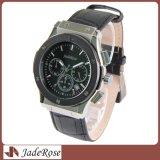 Reloj de lujo del calendario del cuero del reloj clásico del cuarzo para los hombres
