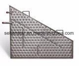 Lamiera impressa efficiente della lamiera di scambio termico di disegno della saldatura del laser termo