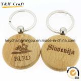 Fördernde die Großhandelsqualität passen Drucken-Firmenzeichen-Leerzeichen-Holz Keychain an