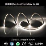 メートルの高い発電SMD2216 LEDの滑走路端燈、Ra>90 LEDのストリップの暖かい白ごとの240&350 LEDs