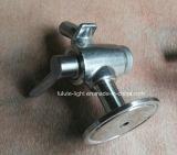 Válvula sanitária da amostra da válvula/cerveja da amostra de vinho do aço inoxidável de produto comestível