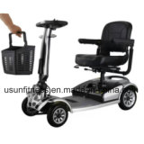 年配者のための情報処理機能をもったシステムが付いている折る移動性の電気スクーター