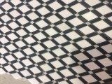 Thassos mezclado de mármol blanco, tiras negro Mosaico de celosía