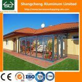Serres chaudes en verre en aluminium utilisées de pièce de Sun de bâti/Sunroom télescopique en plastique
